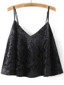 Black Velvet Cami Crop Top