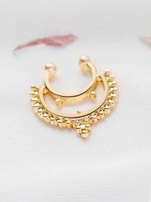 Anillo de nariz delicada de oro