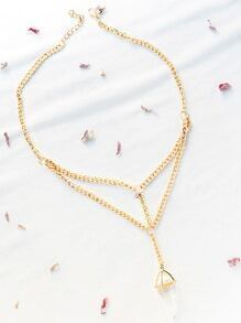 Gold Crystal Pendant Necklace