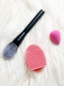 Set cepillo de polvo cepillo de limpieza y esponja de maquillaje