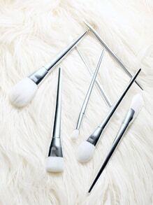 7pcs silver maquillage pinceaux ensemble