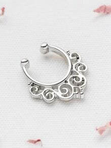 Silver Cutout Vine Nose Ring