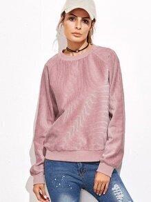 Sweat-shirt manche raglan - rose