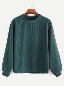 gerippte Sweatshirt -grün