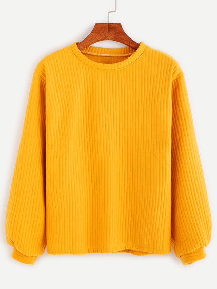 Sweat-shirt manche longue - jaune