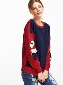 Süß Sweatshirt -kontrastfarbe