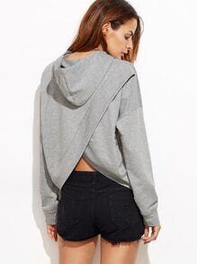 Sweat-shirt dos découpé - gris