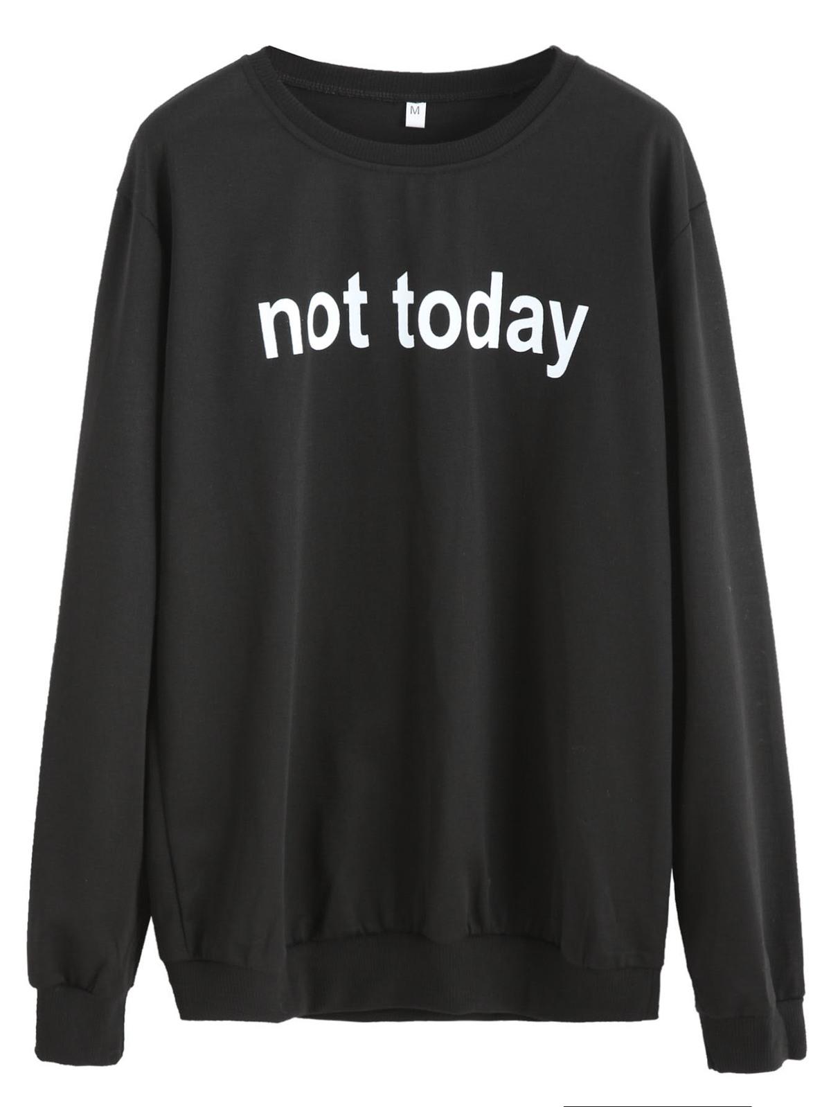 黑色字母圖片 T恤衫