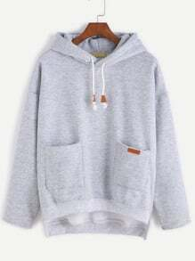 Sweat-shirt avec capuche - gris
