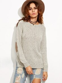 Pull en tricot - abricot