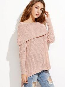 Jersey asimétrico con hombros al aire - rosa