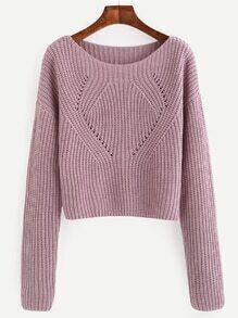 Jersey manga larga - violeta claro