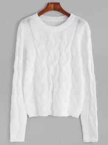 Jersey de punto de ochos - blanco