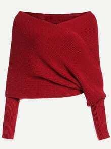 Jersey hombro al aire cruce - rojo