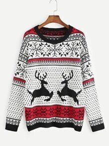 Color Block Ugly Christmas Sweater