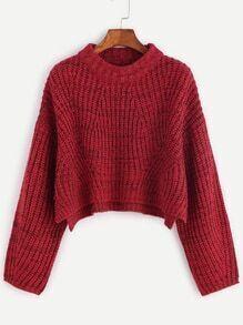 Jersey corto con hombro caído - rojo