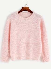 Jersey con hombro caído - rosa