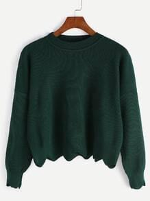 kurz Pullover-dunkel grün