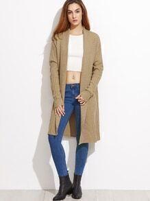 Mixed Knit Shawl Collar Cardigan