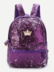 purple séguin overlay couronne détail sac