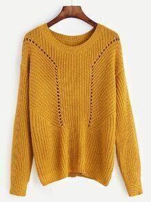 Jersey con hombro caído - amarillo