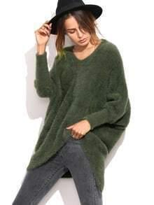 Jersey asimétrico con manga dolman - verde oliva