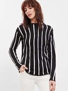 Jersey a rayas verticales - negro