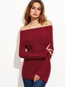 Jersey con hombros al aire - rojo