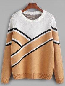 Jersey con estampado de color combinado