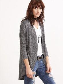 Mantel Gebogener Saum-grau