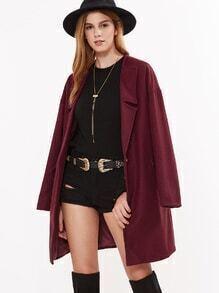 Mantel mit Eins Knopf V-Ausschnitt -burgund rot