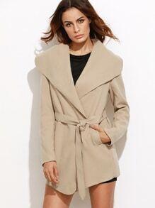 Oversized Drape Collar Wrap Coat