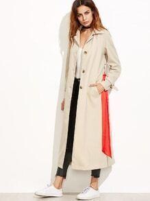 Manteau col à revers manche longue avec ceinture