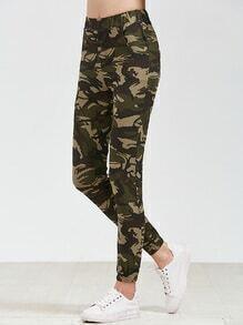 Pantalones cintura elástica con estampado de camuflage