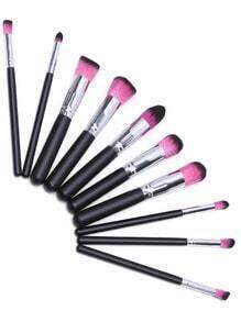 Image en noir et rose chaud Maquillage Brush Set