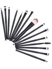 Noir pinceau de maquillage professionnel 15PCS