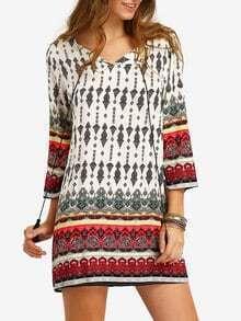 robe motif tribal -multicolore