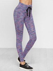 Leggins con cordón en la cintura - violeta