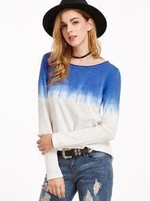 T-shirt manches longues -bleu