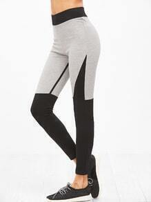 Leggings con panel en contraste