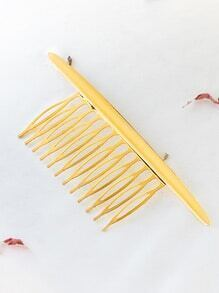 Gold Minimalist Hair Comb