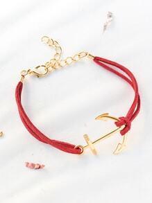 Red Anchor Et Bracelet Détail de la chaîne