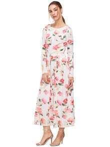 Vestido blanco sin mangas de Bodycon con flores