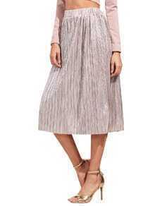 Pink Loose Midi Skirt