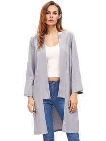 Prendas de vestir de manga larga abiertas de plata