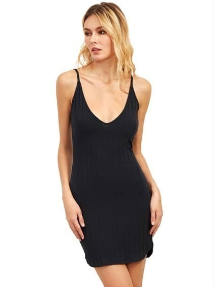 Marine-Spaghetti-Bügel Bodycon Kleid