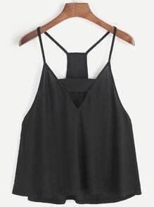 Camiso negro con corte en V