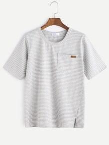 T-shirt à encolure ras du cou
