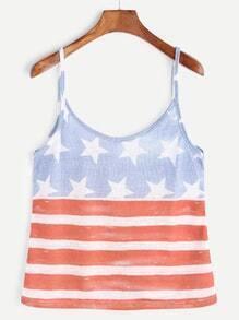 American Flag Print Cami Top