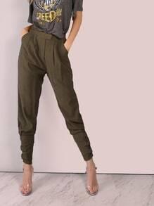Pantalons ajusté avec boucle - olive